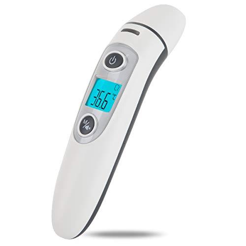 Termometro per orecchio e fronte Hkiytime Precision Professional Termometro digitale a infrarossi per neonati, bambini e adulti con lettura immediata, allarme febbre, certificazione CE e FDA