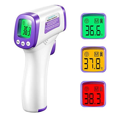 HUHETA Termometro febbre infrarossi, Termometro digitale infrarossi Termometro frontale febbre per Adulti, Bambini