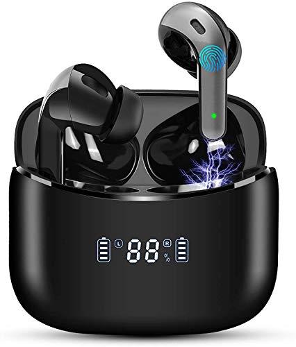 Cuffie Bluetooth Senza Fili Wireless Auricolari Bluetooth 5.0 in Ear, 35 Ore di Riproduzione Bassi Potenziati Microfono Touch Control Auricolari Sport Con Stereo IPX7 Impermeabili per Samsung iPhone