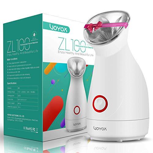 VOYOR Facial sauna vaporizzatore viso professionale per la pulizia del viso comedone, umidificatore facciale nano-ionico per la cura del viso, liberare i pori, partner maschera facciale