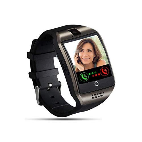 Tipmant Smartwatch Orologio Fitness Uomo Donna Bambini Smart Watch con SIM Card Slot Fotocamera Contapassi Cronometro Fitness Tracker Orologio Telefono per Samsung Huawei Xiaomi Android (Nero)