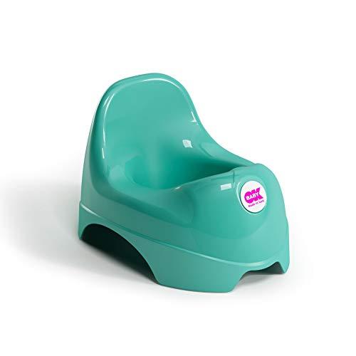 OKBABY Relax 37097230 Vasino per Bambini con Schienale Rialzato, Verde (Mint Green)