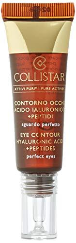 Collistar Attivi Puri Contorno Occhi Acido Ialuronico + Peptidi, Siero gel concentrato contro borse, occhiaie, segni di stanchezza e piccole rughe, Per tutti i tipi di pelle di tutte le età, 15 ml