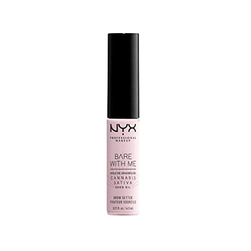 NYX Professional Makeup, Fissante per Sopracciglia Bare With Me Hemp, per Modellare le Sopracciglia, Tenuta da Leggera A Forte, Arricchito con Olio di Semi di Canapa Sativa, Finish Trasparente