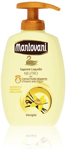 Mantovani - Sapone Liquido, Neutro, Con Crema Fluida Idratante E Proteine Dello Yogurt - 300 Ml