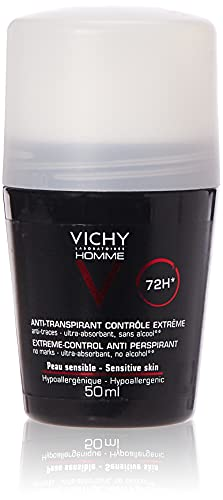 Vichy Homme, Deodorante anti-traspirante, 48 H, Roll on, 50 ml