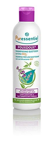 Puressentiel - AntiPidocchi - Pouxdoux® shampoo per uso quotidiano bio con certificazione Ecocert - risana il cuoio capelluto, aiuta a rimuovere le lendini e i pidocchi morti - 200ml