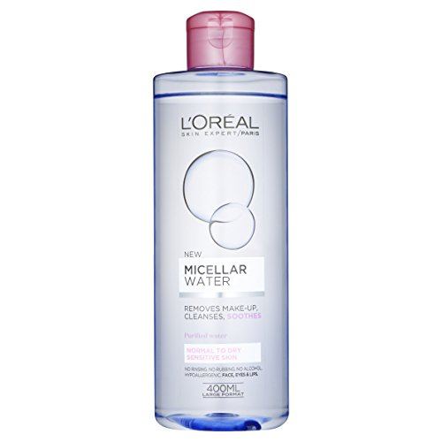 L'Oreal Paris, Acqua Micellare per pelle sensibile normale o secca, 400 ml