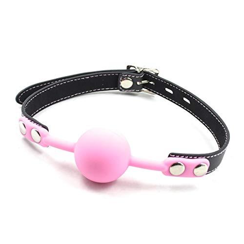 BONDAGERIE® Gàgbàll in Silicone, colore Rosa con Lùcchètto e chiavi