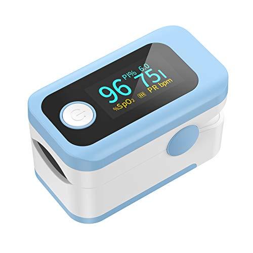Wawech 4 in 1 Saturimetro Professionale Pulsossimetro da dito con Display OLED multidirezionale Ossimetro per Saturazione di Ossigeno(SpO2) Frequenza Del Polso(PR) Indice di Perfusione(PI)