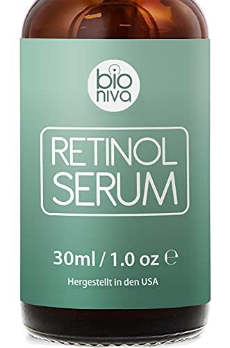 Siero al Retinolo Bio con Liposomi di Retinolo 2,5% + 20% Complesso Vitamina C, Aloe Vera, Acido Ialuronico, e Vitamina E. Siero antirughe - Antirughe e invecchiamento - Idratante rassodante. 30ml