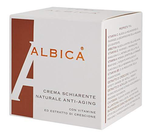 ALBICA Crema schiarente e anti macchia con vitamina C, arbutina, vitamina E, vitamina A, vitamina B5, crescione, achillea, superossodo dismutasi (SOD) vasetto da 30 ml