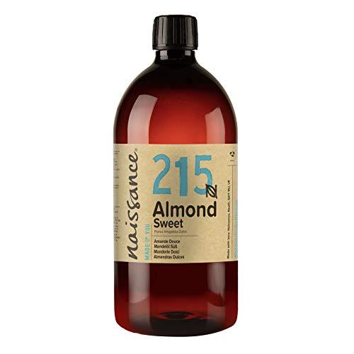 Naissance Mandorle Dolci Naturale 1L – Vegan, senza OGM – Ideale per la cura della Pelle e dei Capelli, l'Aromaterapia e come olio da Massaggio di base