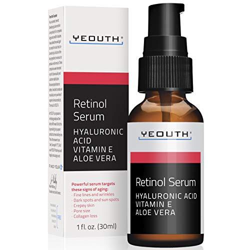 Siero al Retinolo 2.5% con Acido Ialuronico, Vitamina E - Incrementa la Produzione di Collagene.