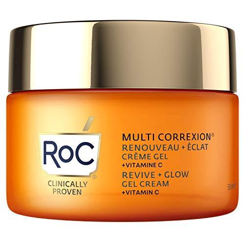 RoC - Multi Correxion Revive + Glow Crema Gel Vitamina C - Anti Rughe e Invecchiamento - Crema Idratante Rassodante - 50ml