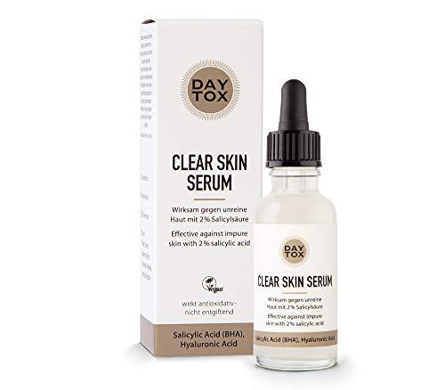 DAYTOX - Clear Skin Serum | Siero anti-imperfezioni con acido salicilico al 2% per una pelle pulita in profondità - testato dermatologicamente, vegan, senza siliconi e parabeni - 30 ml