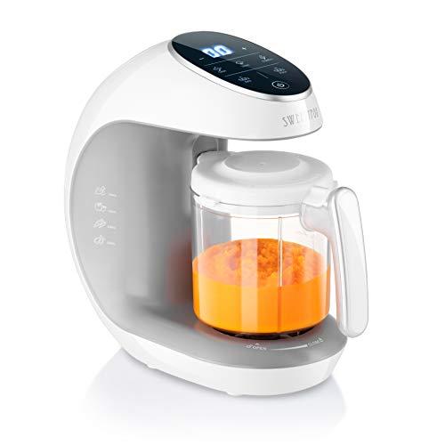 Sweety Fox - Cuocipappa Mixer Multifunzione 7-in-1 per Bébé - Vapore, Mixer, Pulse, Pulizia Automatica, Sterilizzatore Biberon, Riscalda, Scongela - Robot Cucina Multifunzione