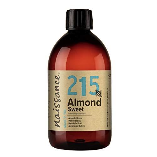 Naissance Mandorle Dolci Naturale 500ml – Vegan, senza OGM – Ideale per la Pelle e i Capelli, l'Aromaterapia e come olio da Massaggio di base