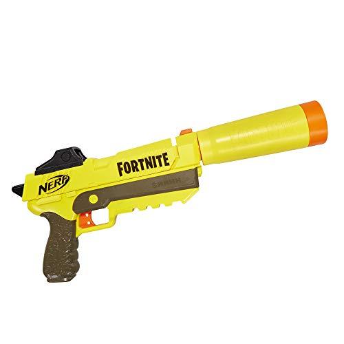 Hasbro Nerf Fortnite SP-L, Blaster Ufficiale con 6 Dardi, Colore Giallo, Replica del blaster del videogioco Fortnite per bambini da 8 anni in su
