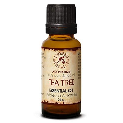 Olio Essenziale di Albero del Tè 20ml- Melaleuca Alternifolia - Australia - Naturale e Puro al 100% - Rilassamento - Diffusore - Lampade per Aromaterapia - Tea Tree Oil Essential