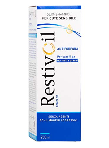 RestivOil Complex Shampoo Antiforfora per Capelli da Normali a Grassi, Olio Fisiologico con Azione Antiseborroica e Anti Prurito, 250 ml