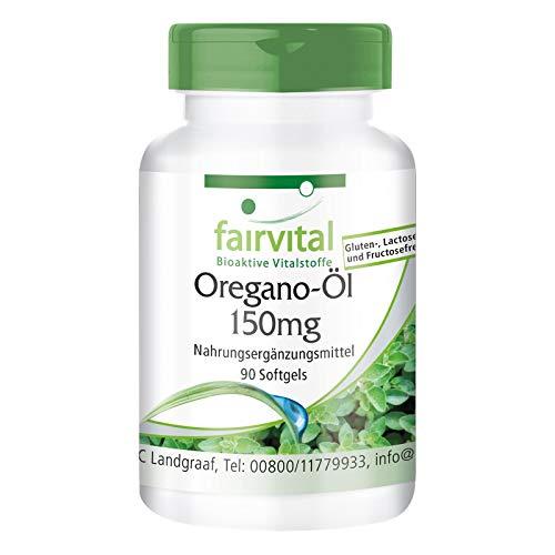 Olio di Origano 150mg - Estratto 10:1 Origanum Vulgare - 90 Softgels - Altamente dosato