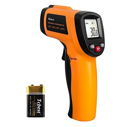 Helect (Non per Umani) Termometro Laser Digitale Pistola Infrarossi Range da -50°C a 550°C, LCD Retroilluminato, Batteria Inclusa