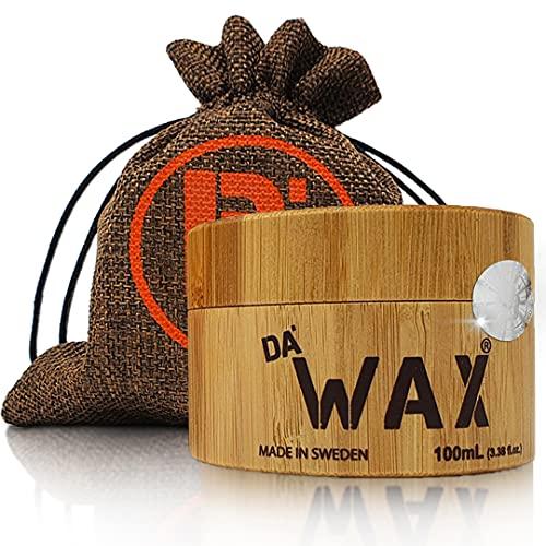 Da'Dude Da'Wax, Cera Capelli Uomo Extra-Forte, Cera per Capelli Uomo Professionale Opaca, In Un Esclusivo Contenitore in Legno e Confezione Regalo
