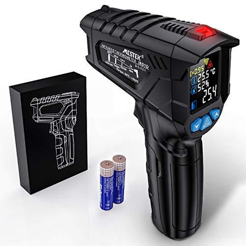Termometro a Infrarossi MESTEK Digitale Laser Temperatura a Pirometro -50 °C ~ 800 °C con Schermo LCD a Colori Regolabile Emissività Umidità Impostazione Max/Hold per Esterni Interni