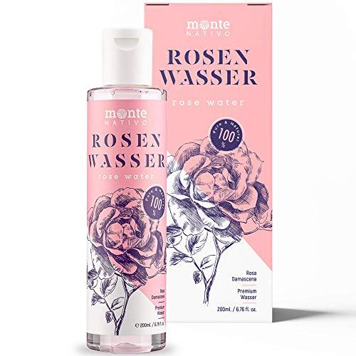 Acqua di Rose Purа MonteNativo 200 ml - 100% Naturale, Vera Acqua di Rose, Puro e Naturale, Idrolato di Rose Naturali, Doppia Distillazione di Vapore Acqueo, Cosmetici Naturali, Rosa Naturale