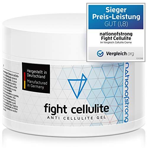 Fight Cellulite Crema Anticellulite Professionale Termoattiva Effetto Caldo (225ml), Crema Corpo Rassodante Forte ad Azione Drenante e Tonificante, Combatte la Cellulite Ostinata + e-book