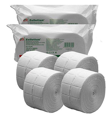 4 rotoli di cellulosa pretagliata da 500 pezzi ciascuno, di alta qualità, ideale per unghie in gel. Cellulosa per unghie scolpite