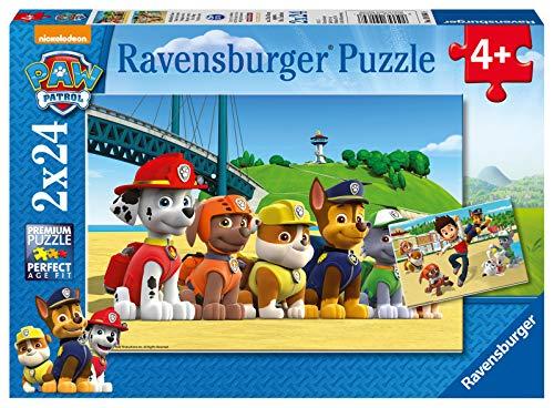 Ravensburger Puzzle, Paw Patrol, Puzzle 2x24 Pezzi, Puzzle per Bambini, Età Consigliata 4+, Puzzle Ravensburger - Stampa di Alta Qualità
