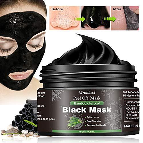 Maschera Viso Purificante, Maschera di comedone, Black Mask, Blackhead Remover Black Mask, Facciale Cura Strappando Stile Pulizia Profonda Pulizia Rimozione Di Comedone Maschera -120ML