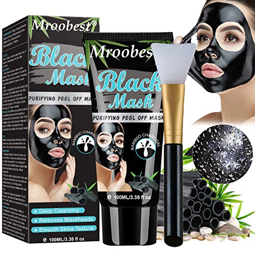 Maschera Nera Punti Neri, Blackhead Remover Maschera, Maschera di Comedone, Maschere Esfolianti e Detergenti, Pulizia profonda dei pori per pelle pulita, Rimozione acne naso e viso(100ML)