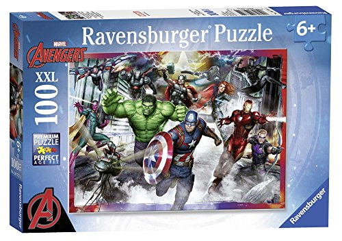Ravensburger Puzzle, Avengers Personaggi, Puzzle 100 Pezzi XXL, Puzzle per Bambini, Puzzle Avengers, Età Consigliata 6+