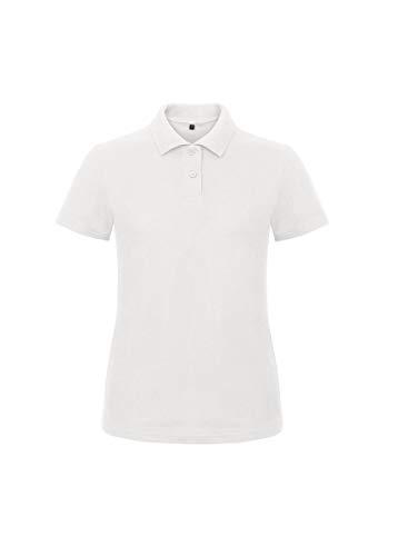Polo da Lavoro Donna T-Shirt Manica Corta con Colletto Cotone piquè B&C ID.001