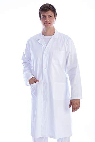 GIMA 21413 Camicia in Cotone e Poliestere, con Bottoni para Donna, M, Bianco (White)