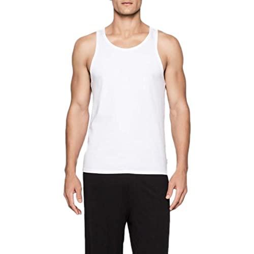 Calvin Klein 2P Tank Canottiera, Bianco (White 100), Small (Pacco da 2) Uomo