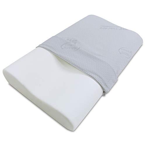 Baldiflex - Cuscino in Memory Foam - Modello Ortocervicale - Fodera in Silver Safe
