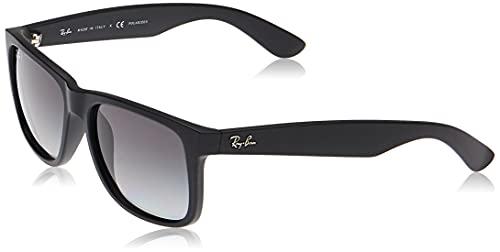 Ray-Ban Justin RB4165 Non-Polarized- Occhiali da Sole Unisex, Nero (601 / 8G), 54 mm