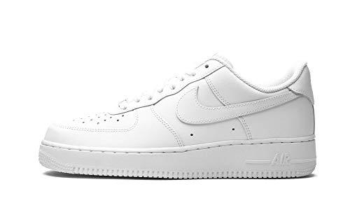 Nike Air Force 1 '07 - Scarpe da Basket Uomo, Bianco (White/White), 45 EU