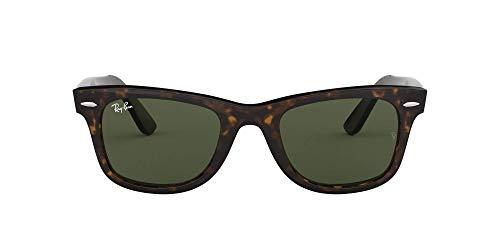 Ray-Ban Wayfarer, Occhiali da Sole da Uomo, Marrone (902 902), 50 mm