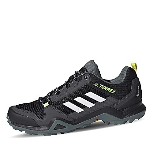 adidas Terrex AX3 GTX, Scarpe da Trekking Uomo, Core Black/Ftwr White/Acid Yellow, 44 EU