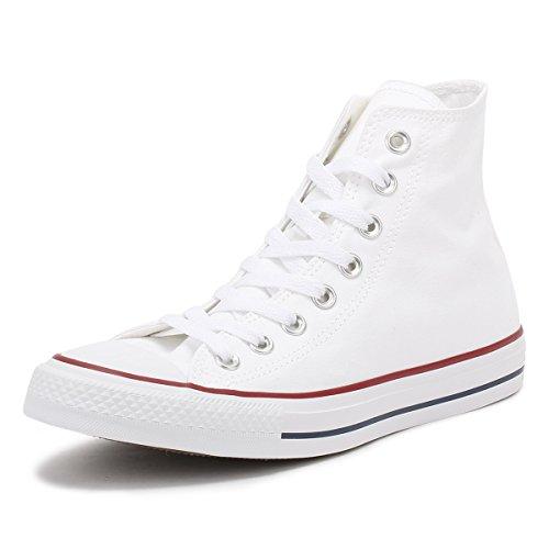Converse All Star Hi Canvas Sneakers Bianche Ottiche -UK 9