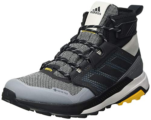 adidas Terrex Trailmaker Mid GTX, Scarpe da Trekking Uomo, Metal Grey/Core Black/Active Gold, 41 1/3 EU