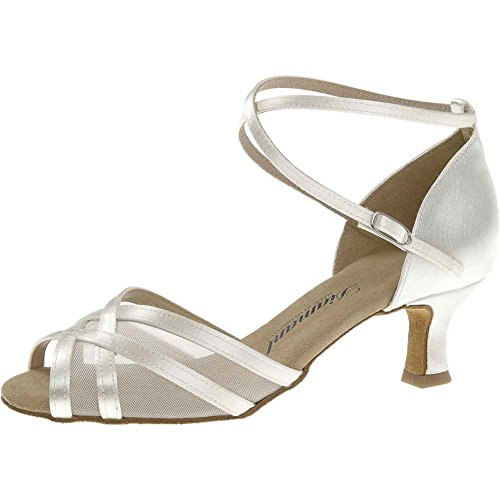 Diamant 035-077-092 - Scarpe da ballo da donna, Bianco (bianco), 36 EU
