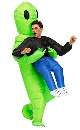 Alien Costume gonfiabile da uomo, per adulti, super divertente, adatto per feste, spettacoli