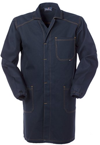 SERIO PLUS + Camice Uomo da Tecnico O Officina Generica Blu Scuro Tessuto Robusto A60109 (XL)