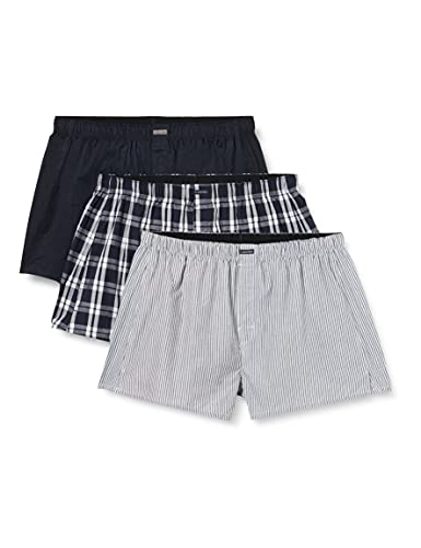 Calvin Klein Boxer Wvn 3Pk Mutande, Blu (Tide/Morgan Plaid/Montague Stripe Tmm), M (Pacco da 3) Uomo